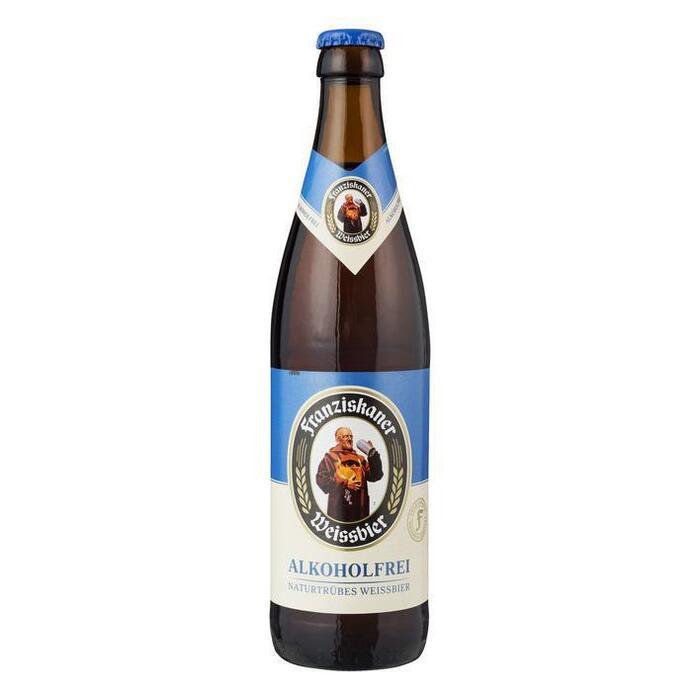 Franziskaner Weissbier Alkoholfrei Naturtrübes Weissbier Fles 0, 5L (0.5L)
