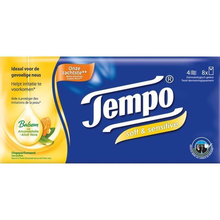 Tempo Plus soft & sensitive 4-laags zakdoeken