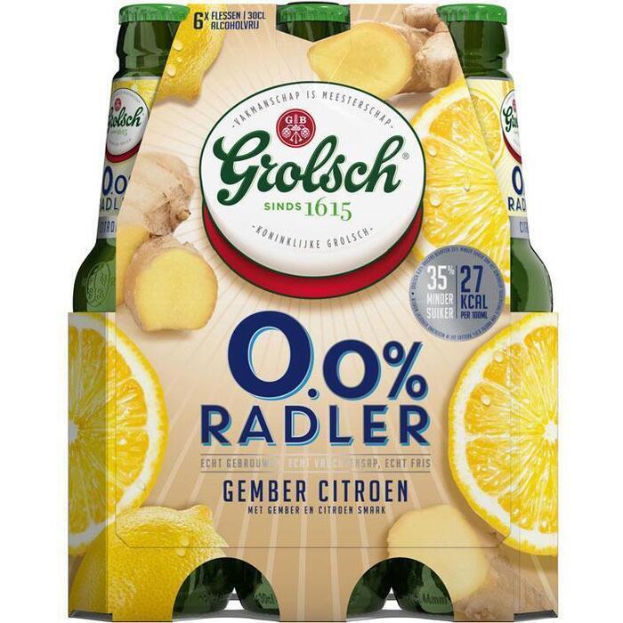 0.0% Radler gember citroen (rol, 6 × 30cl)