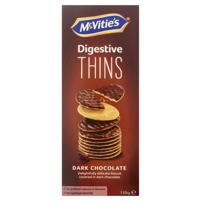 McVitie's Digestive Thins Dark Chocolate 150g (150g)