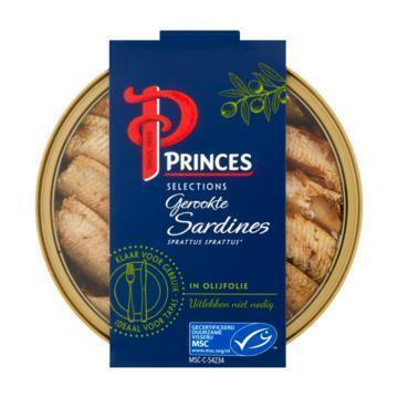 Princes Selections Gerookte Sardines in Olijfolie MSC 120 g (120g)