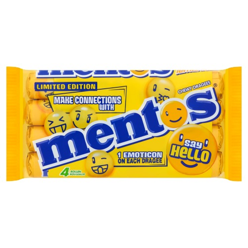 Mentos Chewy Dragees Say Hello Rollen Limited Edition 4 x 37,5 g (37.5g)