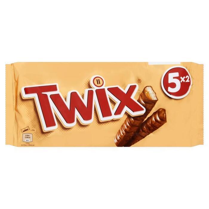 Twix (5 x 2stuks) (Stuk, 10 × 25g)