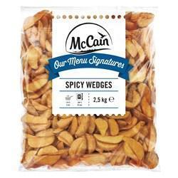 MCCAIN MENU SIGN SPICY WEDGES (2.5kg)