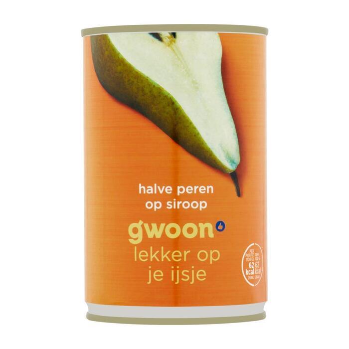 g'woon Halve peren op lichte siroop (425g)