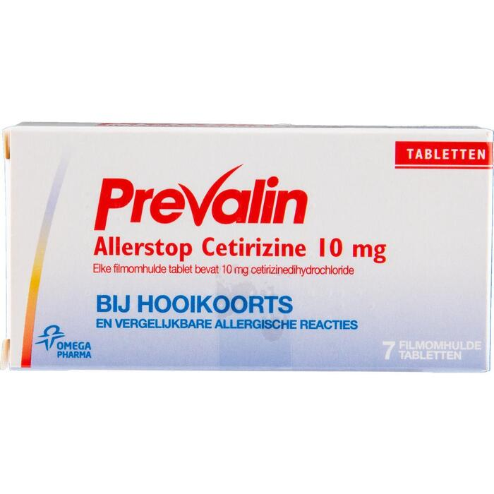 Prevalin Allerstop Cetirizine Filmomhulde Tabletten 7 x 10mg (10mg)