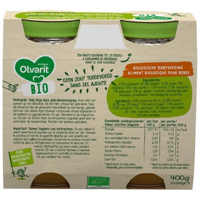 Olvarit Groentenmix, aardappel & rundvlees 8+ Maanden (200g)