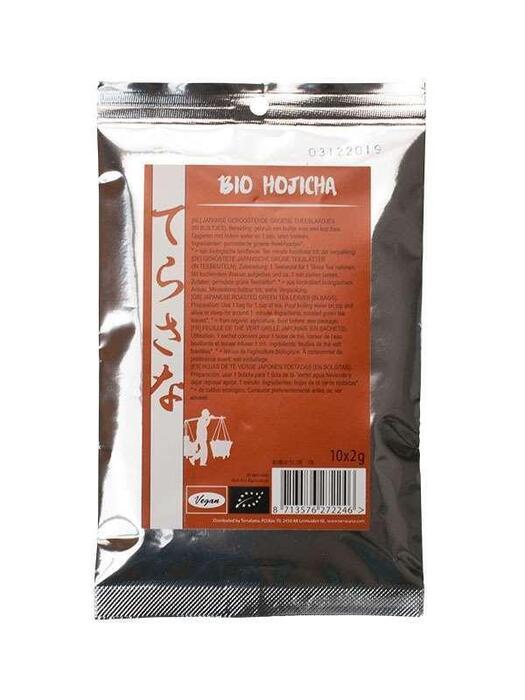 Hojicha blaadjes - theebuiltjes 10*2g TerraSana 20g (20g)