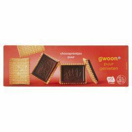 g'woon Chocoprentjes puur (doos, 150g)
