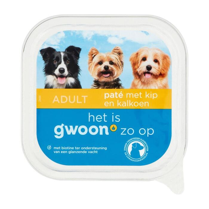 g'woon Pate kip en kalkoen hond (150g)