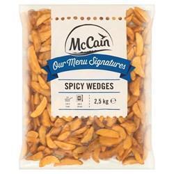MCCAIN MENU SIGN SPICY WEDGES (2.5kg)