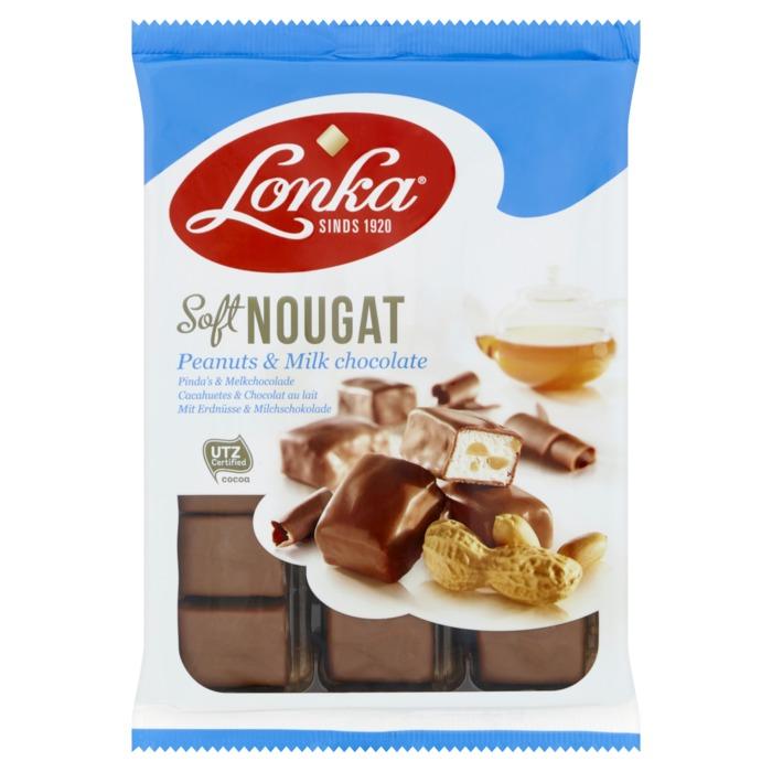Lonka Nougat melkchoco-pinda 180g (180g)
