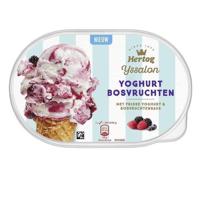 Hertog IJssalon yoghurt bosvruchten (0.9L)