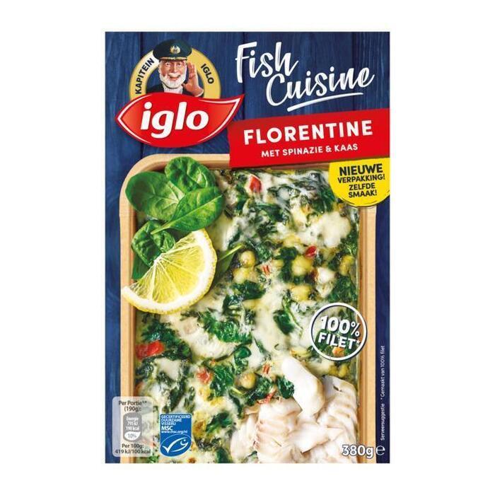 Fish Cuisine Florentine met Spinazie & Kaas (doos, 380g)