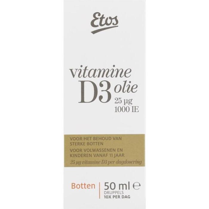 Etos Vitamine D3 Hooggedoseerd Olie (50g)