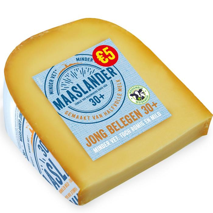 Maaslander Jong belegen 30+ kaas stuk (425g)