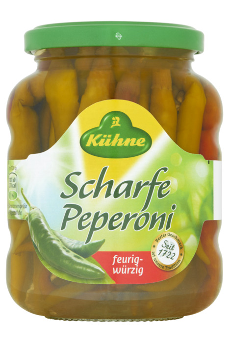 Kuhne Peperoni pittig (300g)