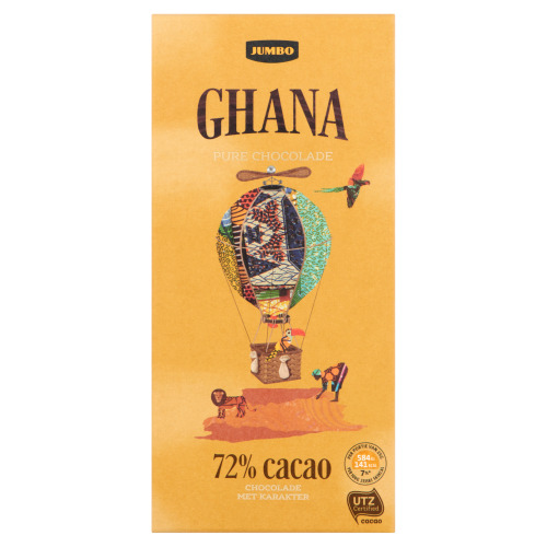 Jumbo Pure Chocolade Ghana 100 g (100g)