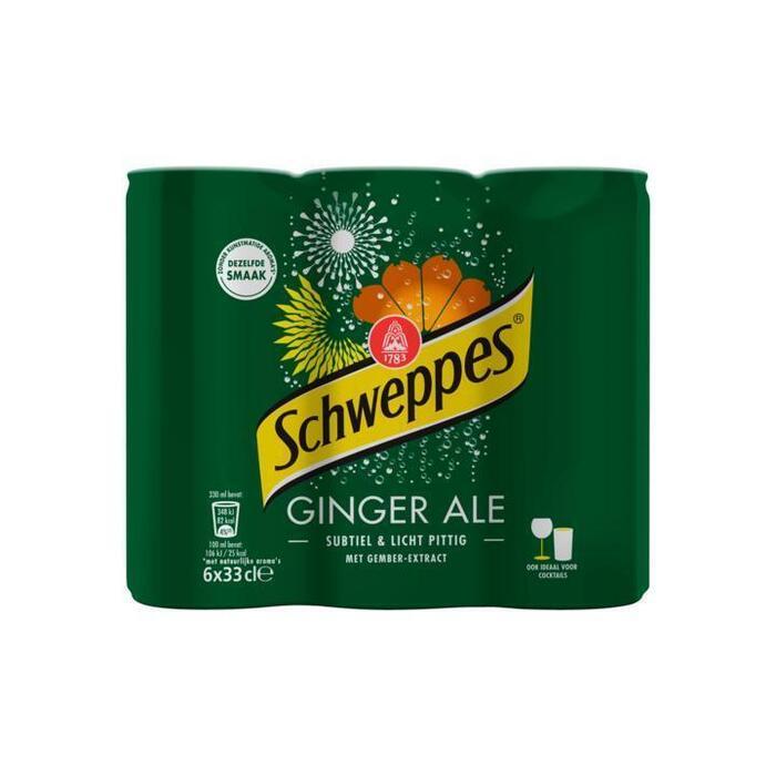 Schweppes Ginger Ale 6x33cl blik (6 × 33cl)