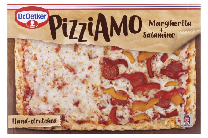 Dr. Oetker Pizza Margherita + Salamino 570 g Doos (570g)