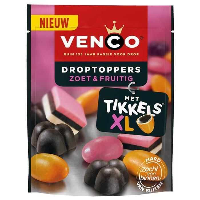 Venco Droptoppers zoet & fruitig (255g)
