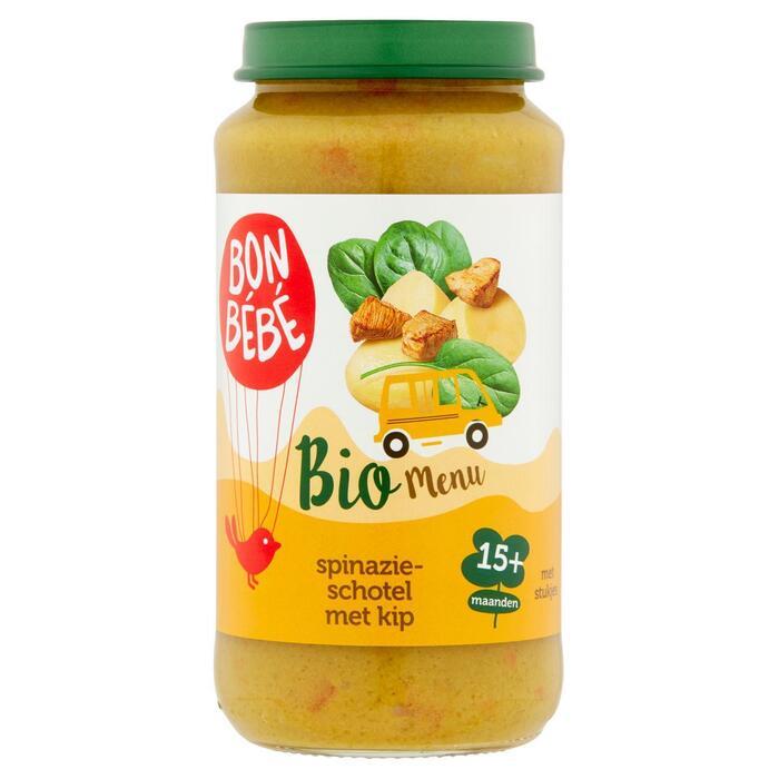 Spinazieschotel met kip + 15 maanden (250g)