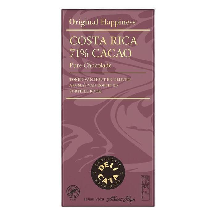 Delicata Reep pure chocolade Costa Rica 71% (100g)