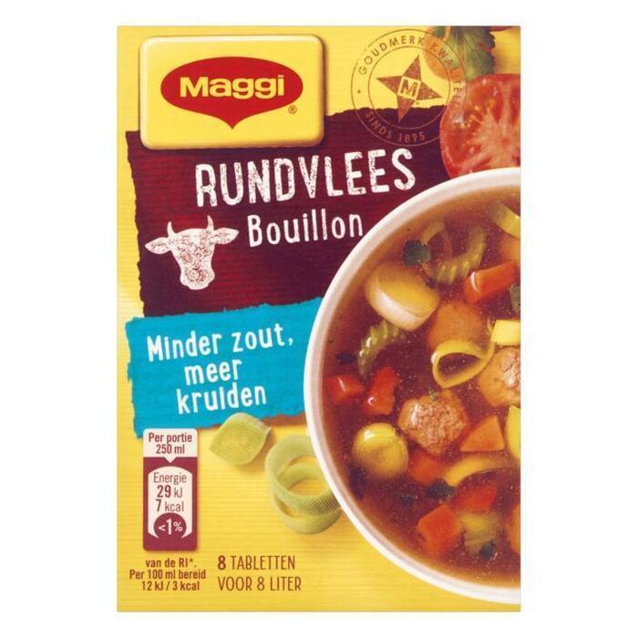 Maggi Minder zout bouillon rundvlees (72g)