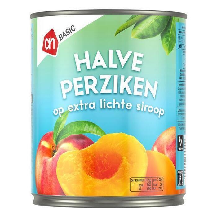 AH BASIC Halve perziken op siroop (820g)