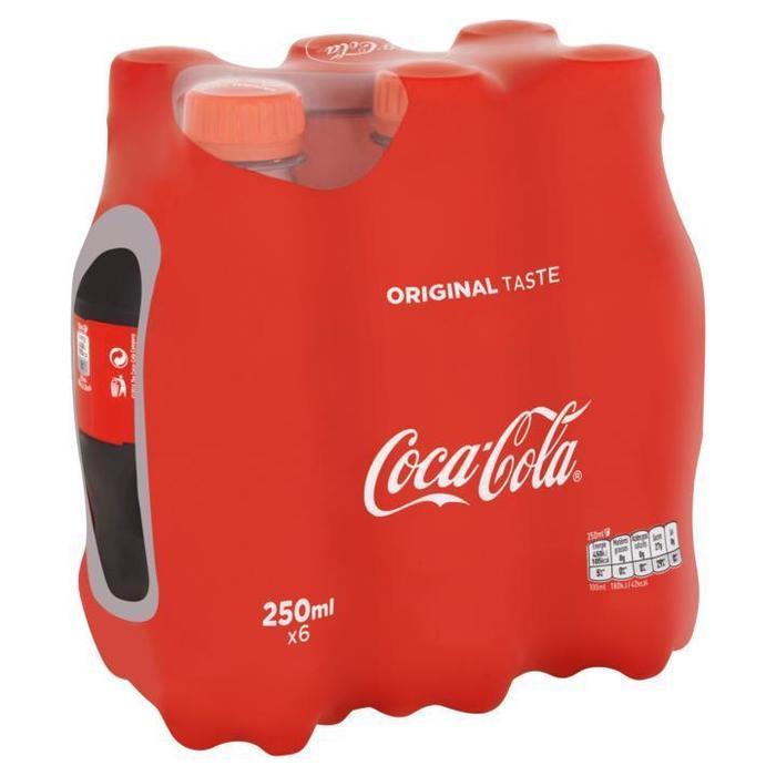 Coca Cola (PETfles, 6 × 250ml)