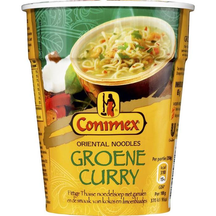 Conimex Noodles Groene Curry 65g (65g)