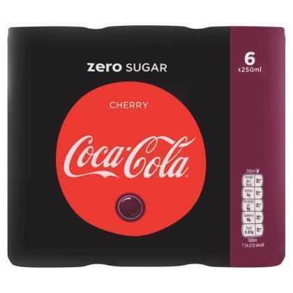Coca-Cola Zero Cherry Blik 0.25L 6x (6 × 250ml)