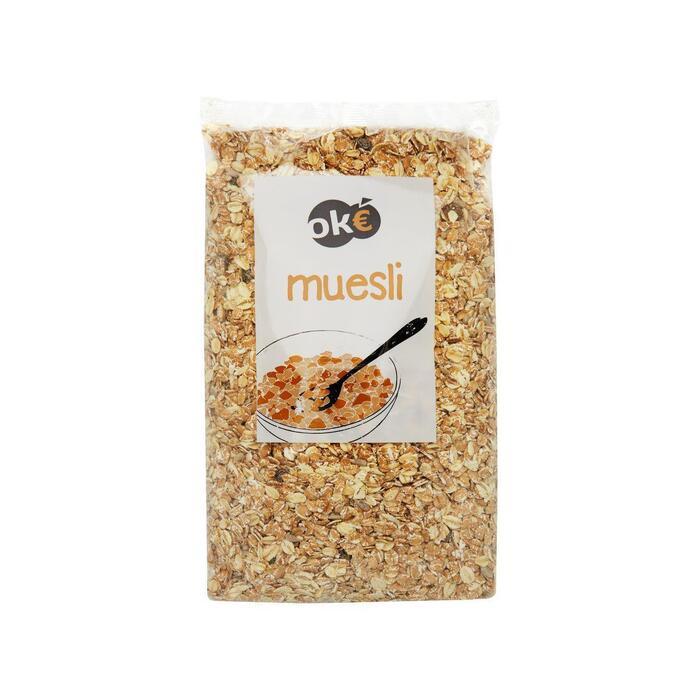 Muesli met rozijnen (plastic zak, 1kg)