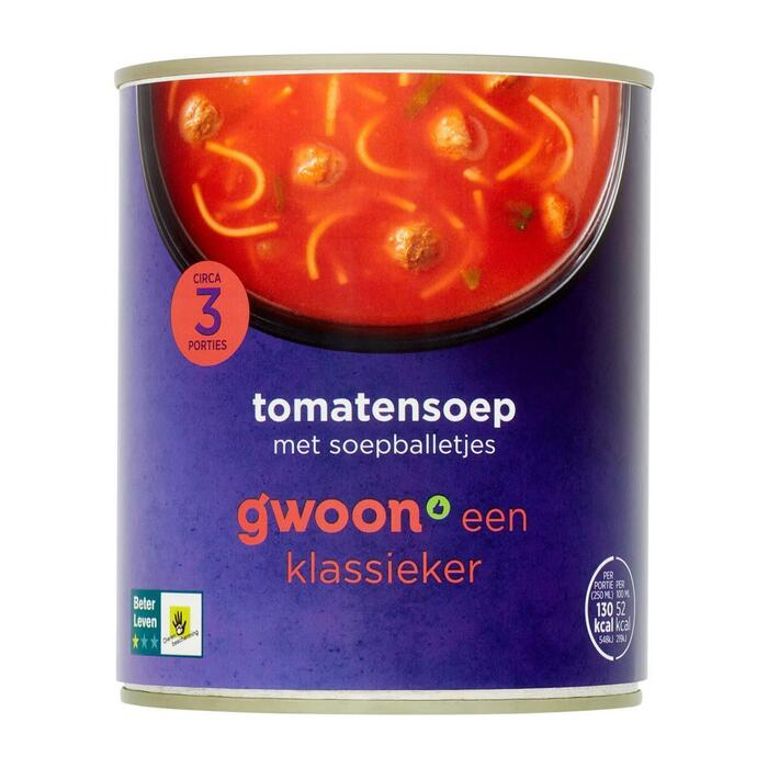 g'woon Tomatensoep (0.8L)
