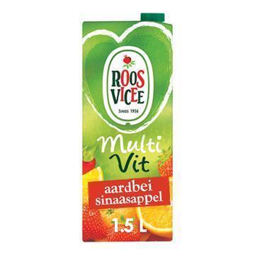 Roos Vicee Multi Vit Aardbei sinaasappel (rol, 1.5L)