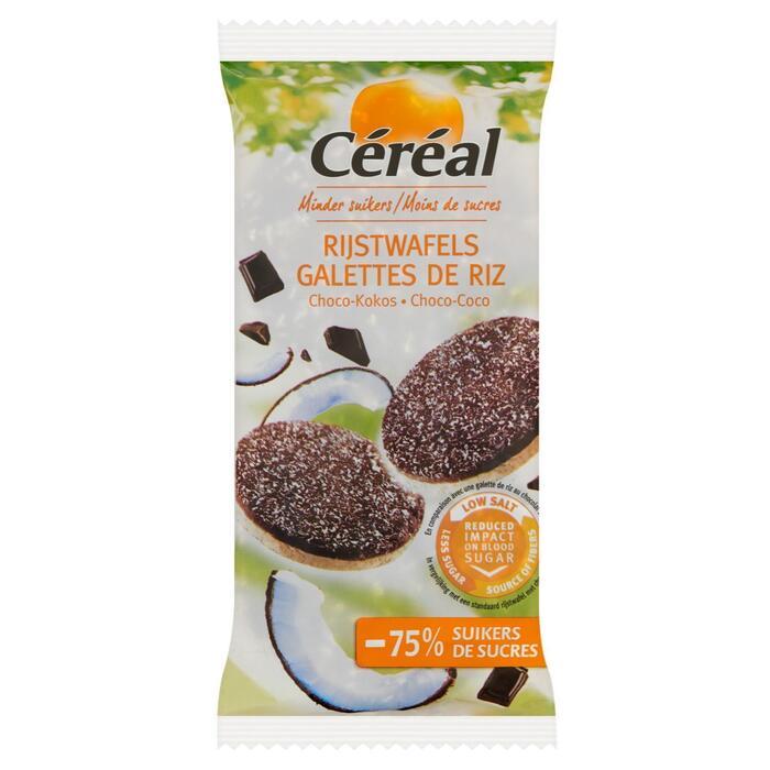 Céréal Minder Suikers Rijstwafels Choco-Kokos 100 g (100g)