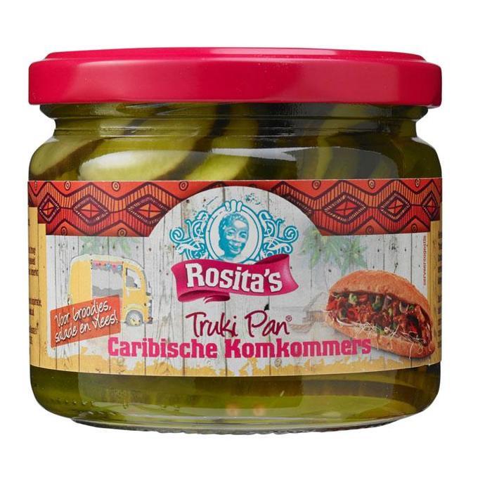 Rosita's Truki Pan Caribische Komkommers 300g (30cl)