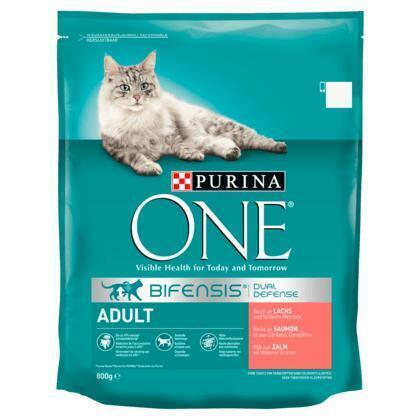Purina ONE Bifensis Dual Defense Adult Zalm 800 g (Stuk, 800g)