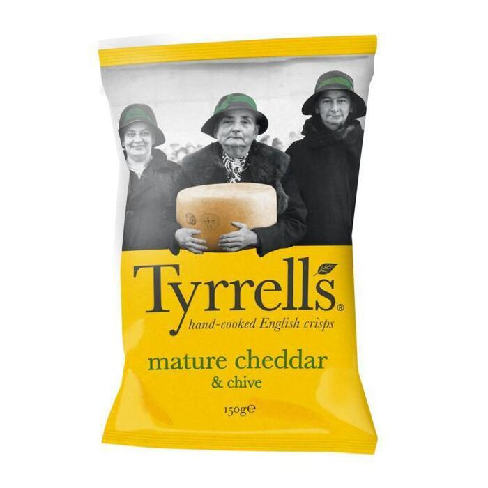 Tyrrells Mature Cheddar & Chive 150g (150g)
