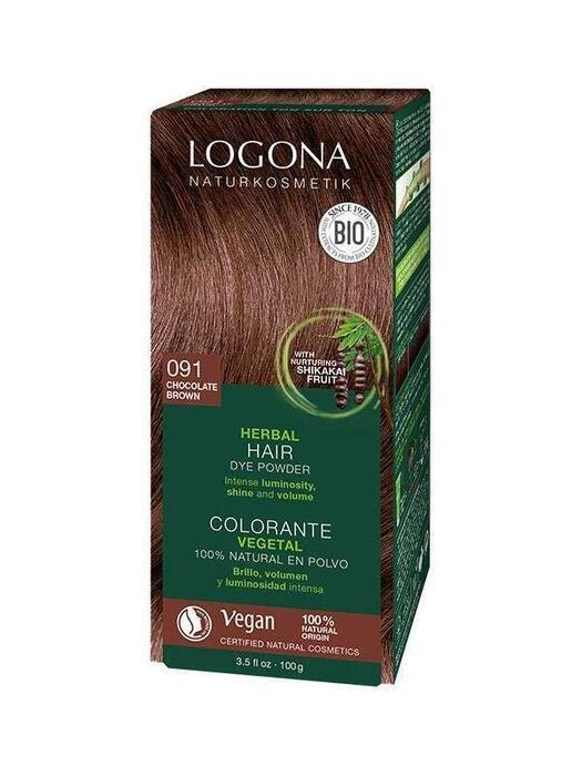Haarkleuring 091 Chocoladebruin Logona 100g (100g)