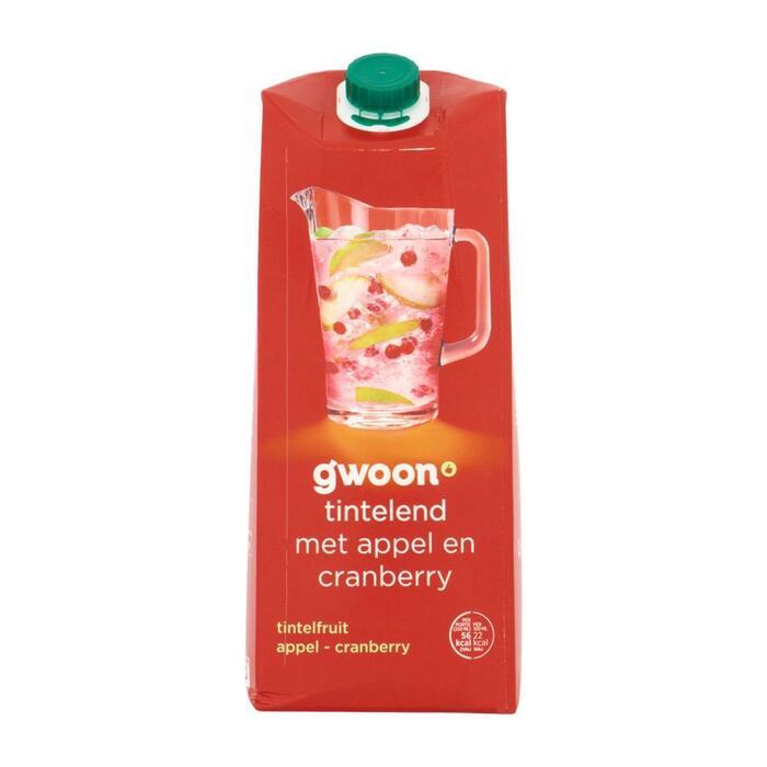 g'woon Tintelfruit appel-cranberry (1.5L)