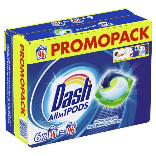 Dash Allin1 Regular Wascapsules Pods 96 Wasbeurten