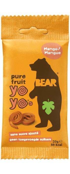 Bear Pure Fruit yoyo's mango 20 gram (2 × 10g)