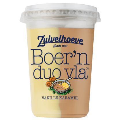 Zuivelhoeve Boer'n Duo Vla Vanille-Karamel 450 g (450g)