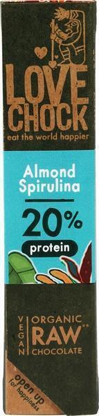 RAW chocolade amandel/spirulina (40g)