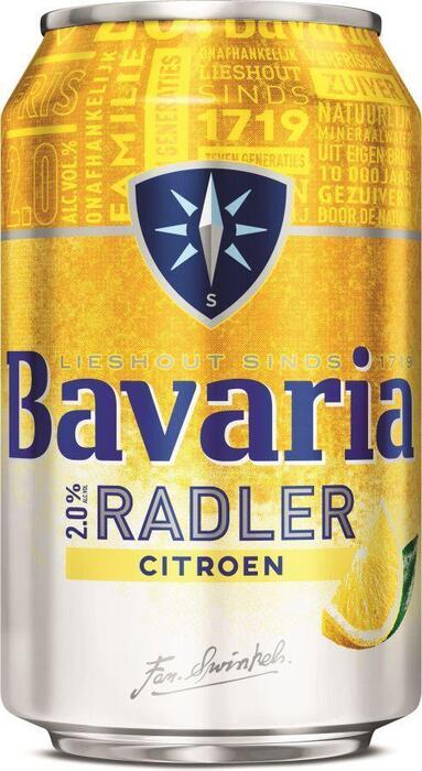 Bavaria 2.0% Radler Lemon Blik 33 cl (rol, 33cl)