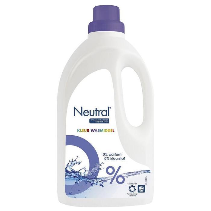 Wasmiddel vloeibaar parfumvrij kleur (Stuk, 1L)