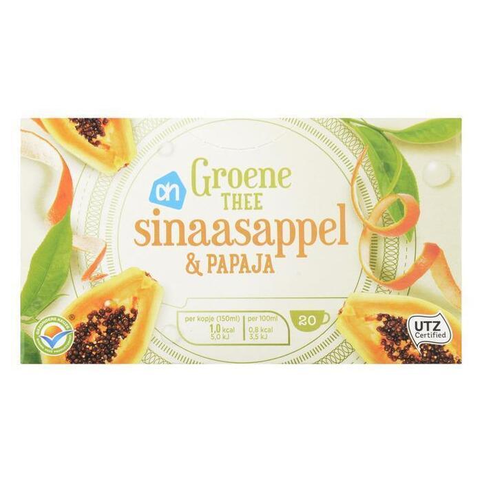 AH Groene thee sinaasappel & papaya