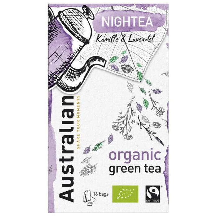 Australian Nightea green tea biologisch (16 × 1.6g)
