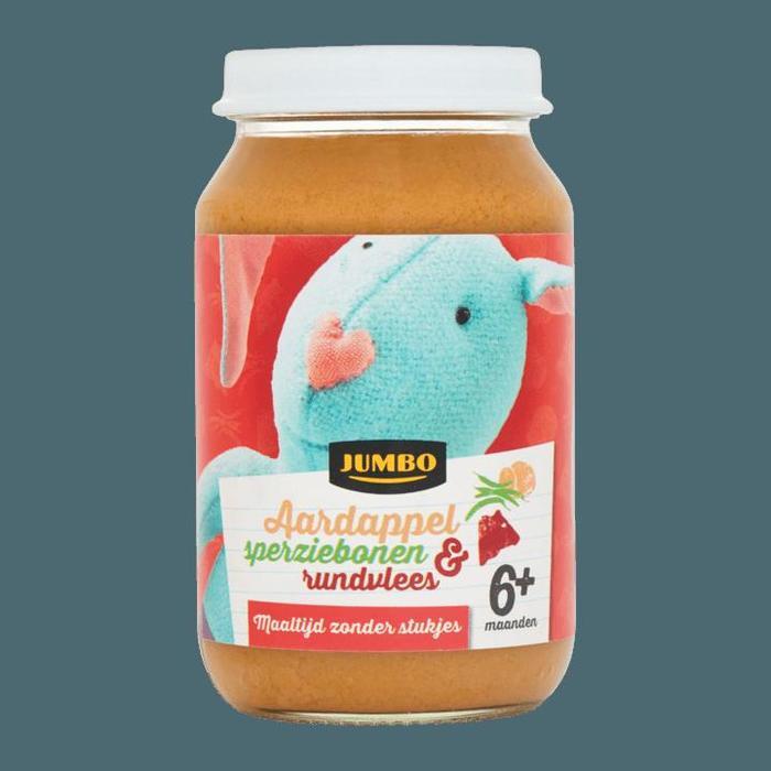Jumbo Aardappel Sperziebonen & Rundvlees 6+ Maanden 200g (200g)
